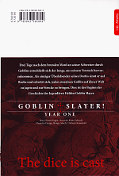 Backcover Goblin Slayer! Year One 1