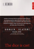 Backcover Goblin Slayer! Year One 4